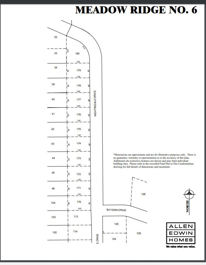 Meadow Ridge Lot Map 2