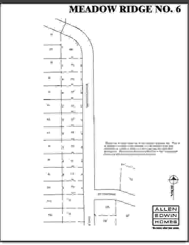 Meadow Ridge Lot Map 2