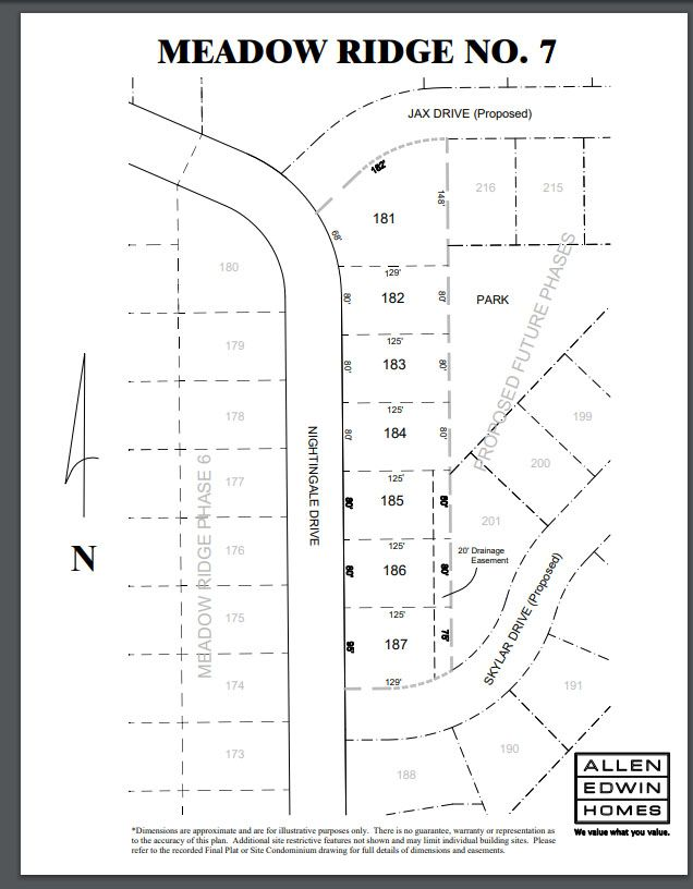 Meadow Ridge Lot Map 3
