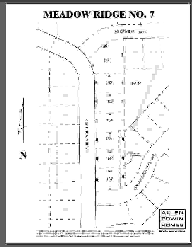 Meadow Ridge Lot Map 3
