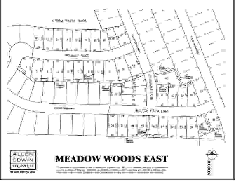 Meadow Woods East Lot Map