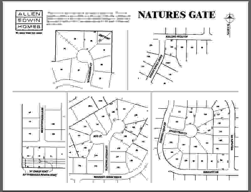 Nature's Gate Lot Map