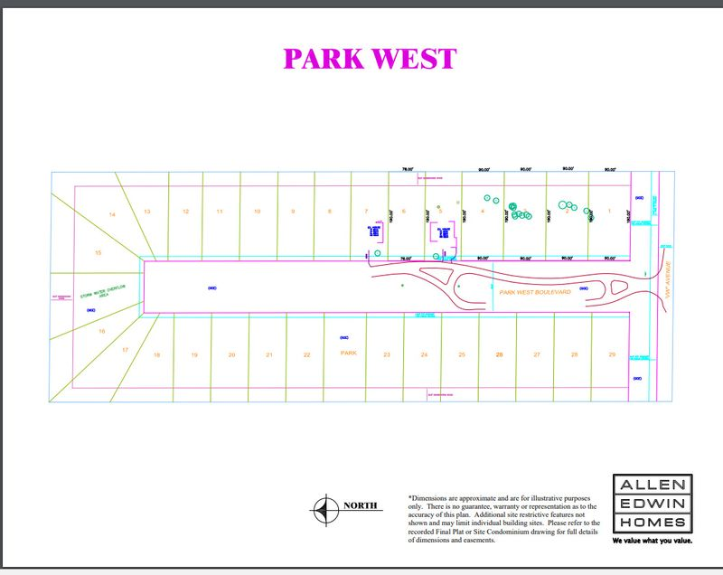 Park West Lot Map
