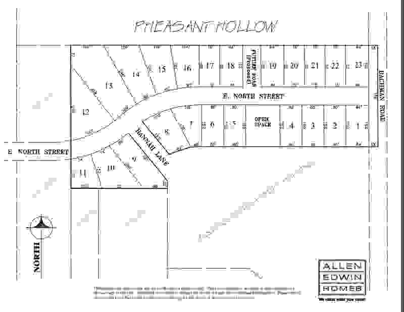 Pheasant Hollow Lot Map