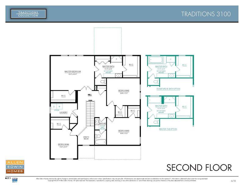 Allen Edwin Floor Plans: Traditions 3100 Home Plan By Allen Edwin Homes In Island Lakes