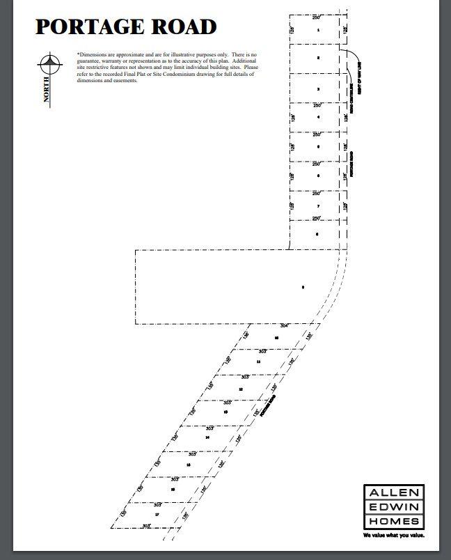 Portage Road Lot Map 1