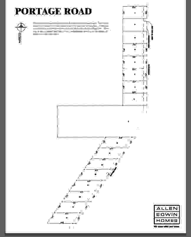 Portage Road Lot Map 1