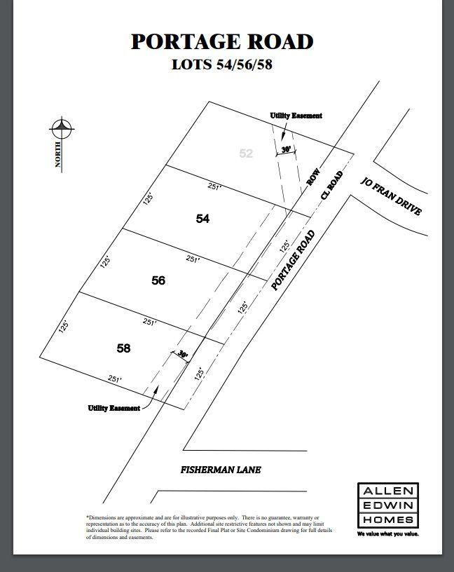 Portage Road Lot Map 2