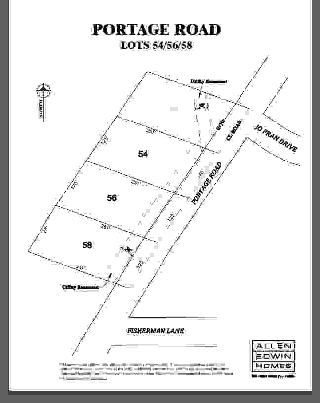 Portage Road Lot Map 2