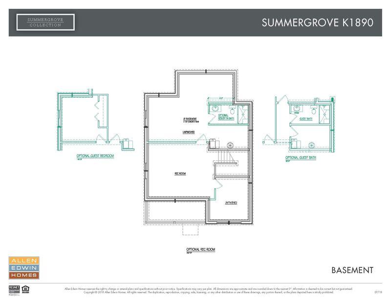 Allen Edwin Floor Plans: Summer Grove K1890 Model At 440 Summer Grove Dr
