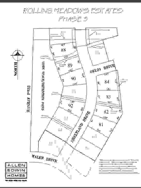 Rolling Meadows Estates Lot Map 3