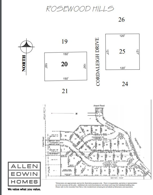 Rosewood Hills Lot Map