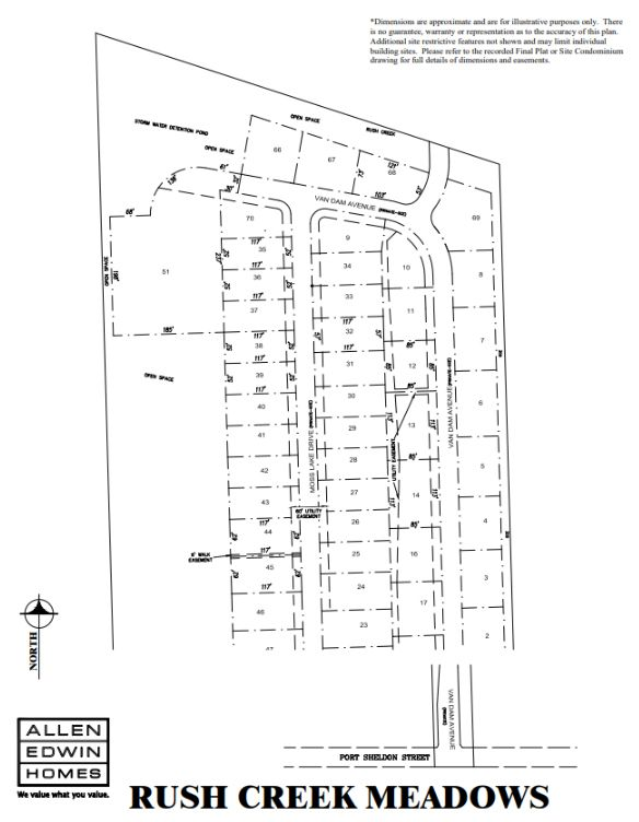 Rush Creek Meadows Lot Map