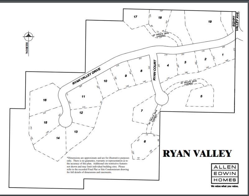 Ryan Valley Lot Map
