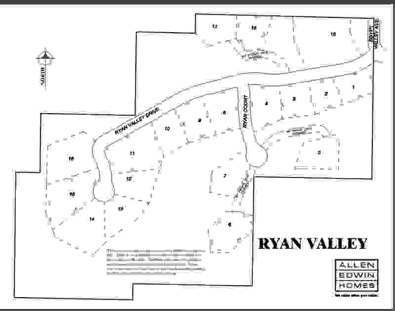 Ryan Valley Lot Map