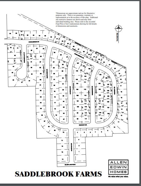 Saddlebrook Farms Lot Map