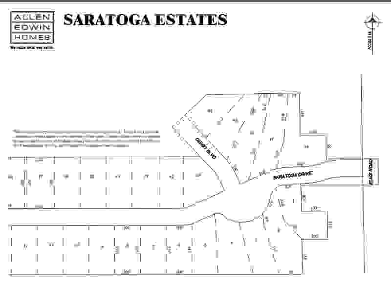 Saratoga Estates Lot Map 2