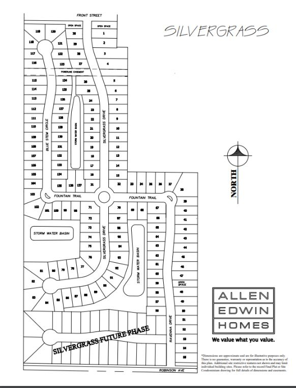 Silvergrass Lot Map