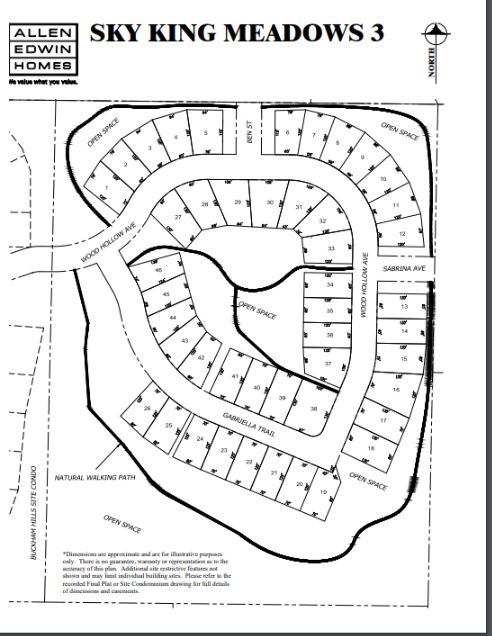 Sky King Meadows Lot Map 3