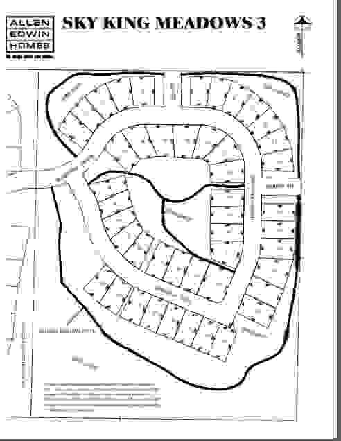 Sky King Meadows Lot Map 3