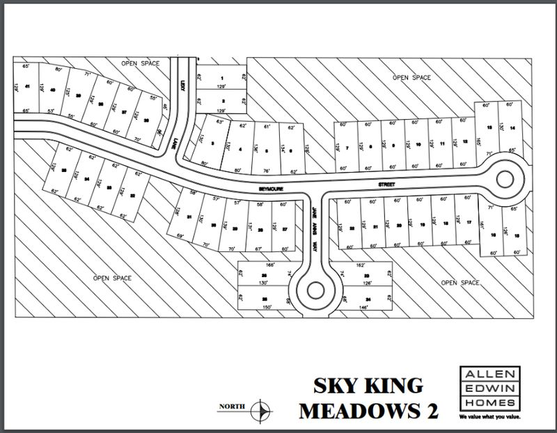 Sky King Meadows Lot Map 2