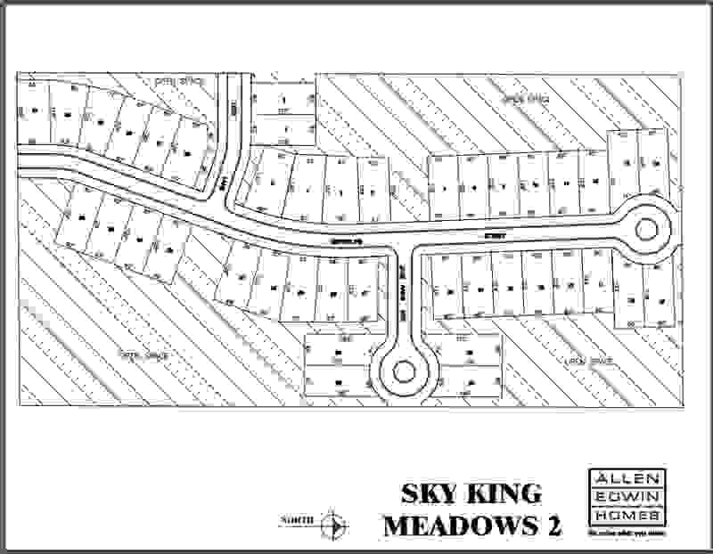Sky King Meadows Lot Map 2