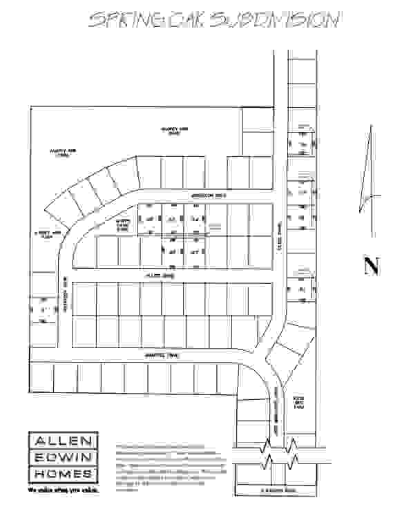 Spring Oak Lot Map