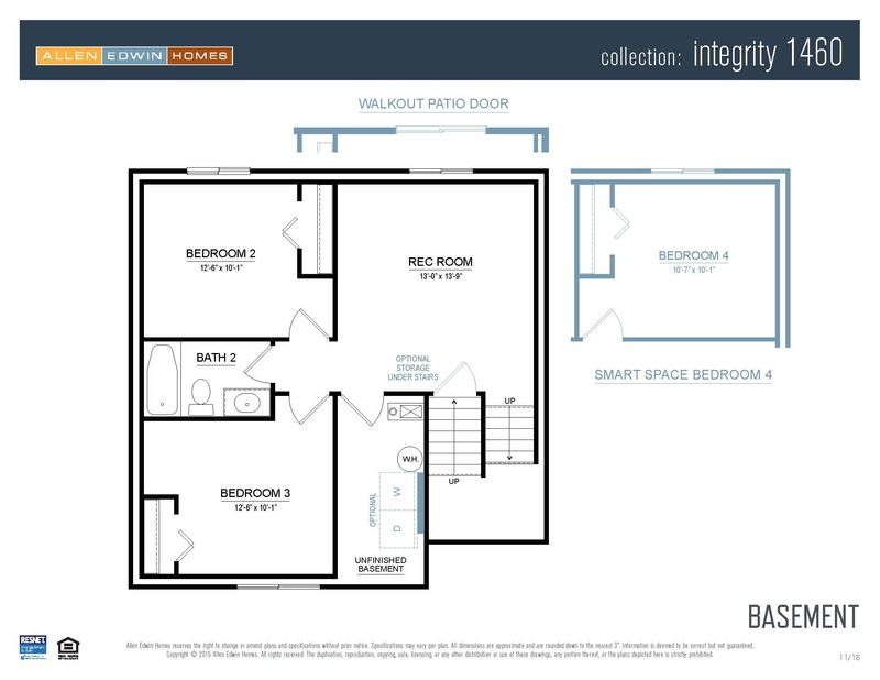 Homes Of Integrity Floor Plans: Integrity 1460 Home Plan By Allen Edwin Homes In Gilmore