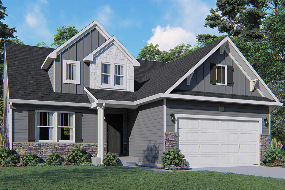 Exterior featured in the Elements 1800 By Allen Edwin Homes in Grand Rapids, MI