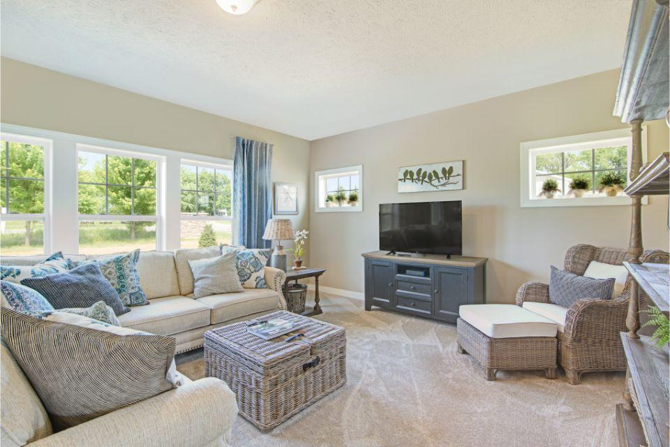 Living Area featured in the Elements 2390 By Allen Edwin Homes in Lansing, MI