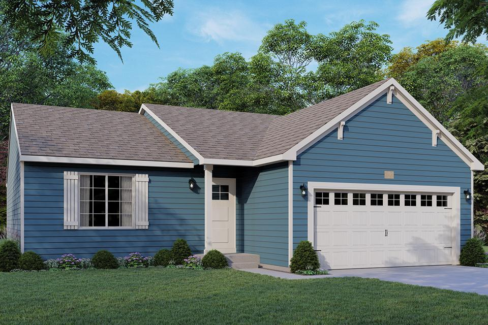 Exterior featured in the Integrity 1250 By Allen Edwin Homes in South Bend, IN