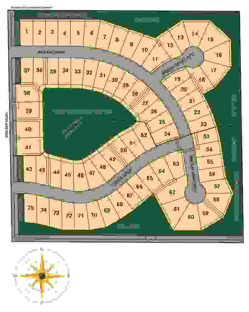 Arborwood Plat Map