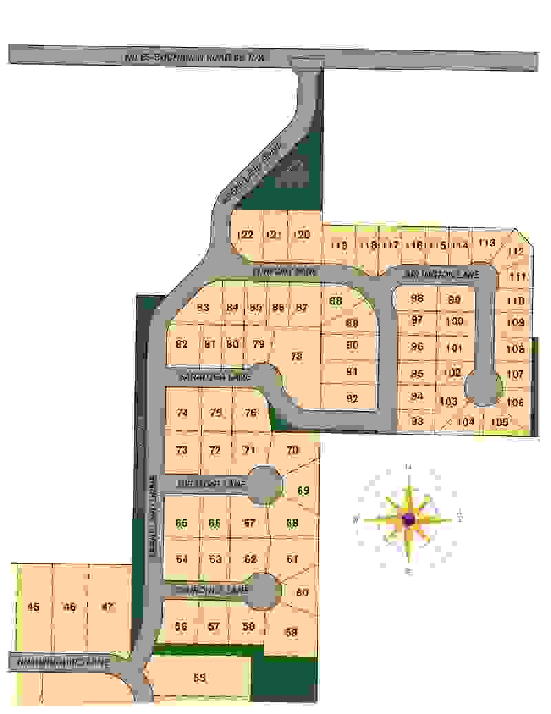 Longmeadow Lot Map
