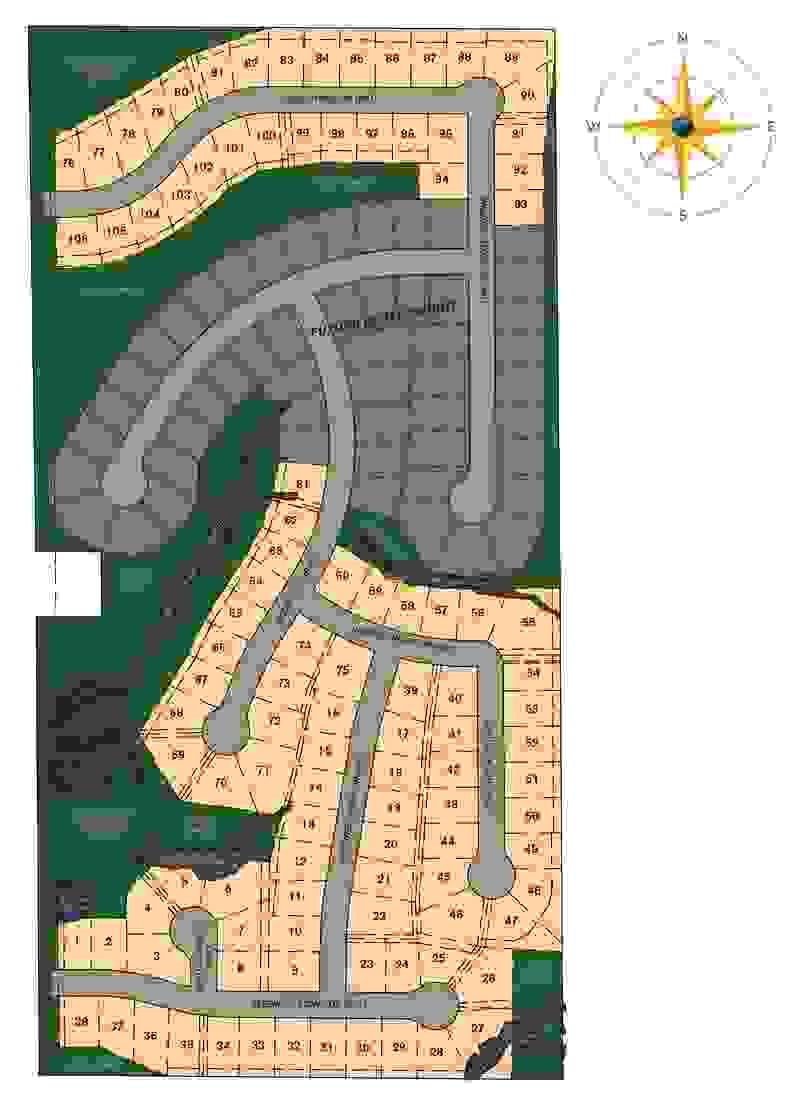 Stonegate Lot Map