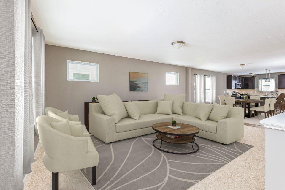 Living Area featured in the Elements 1400 By Allen Edwin Homes in Kalamazoo-Battle Creek, MI