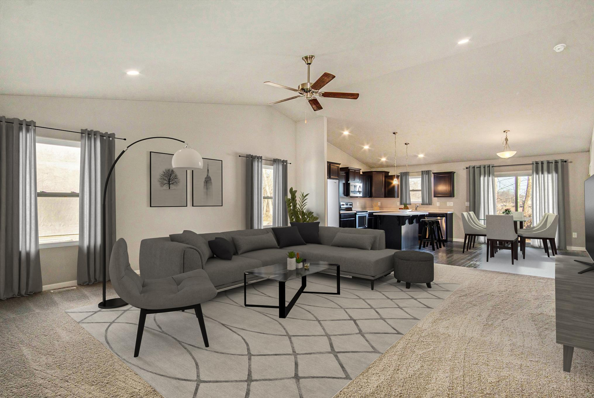 Living Area featured in the Elements 1600 By Allen Edwin Homes in Kalamazoo-Battle Creek, MI
