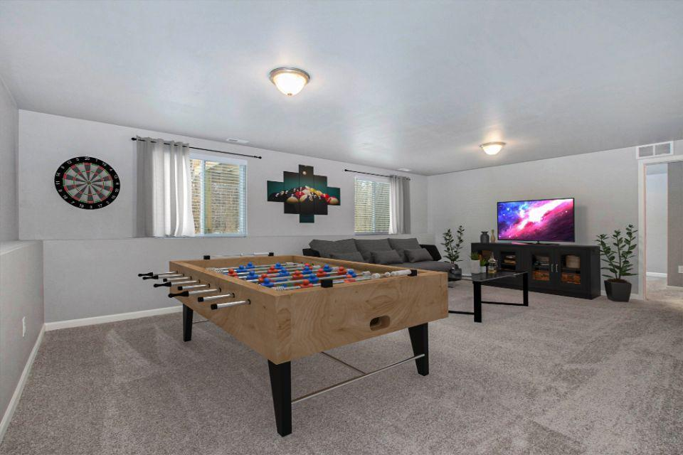 Virtually Staged Rec Room