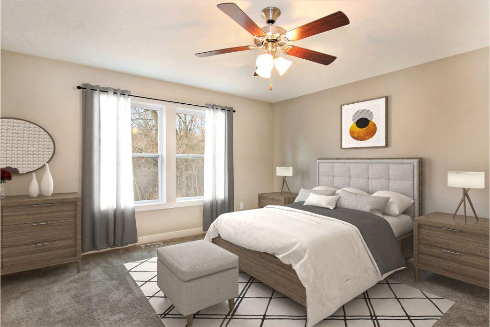Bedroom featured in the Traditions 2600 V8.1b By Allen Edwin Homes in Grand Rapids, MI