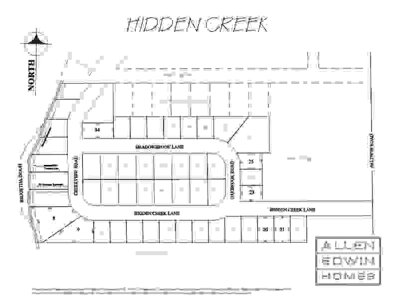 Hidden Creek Lot Map