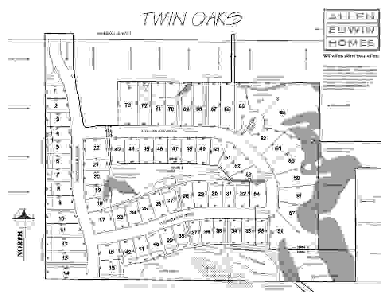 Twin Oaks Plat Map