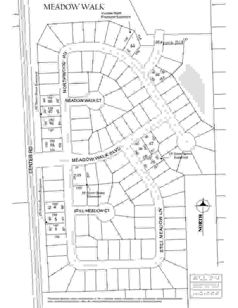 Meadow Walk Plat Map