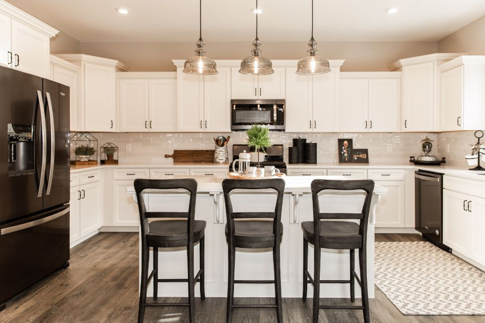 Kitchen featured in the Elements 2700 By Allen Edwin Homes in South Bend, IN