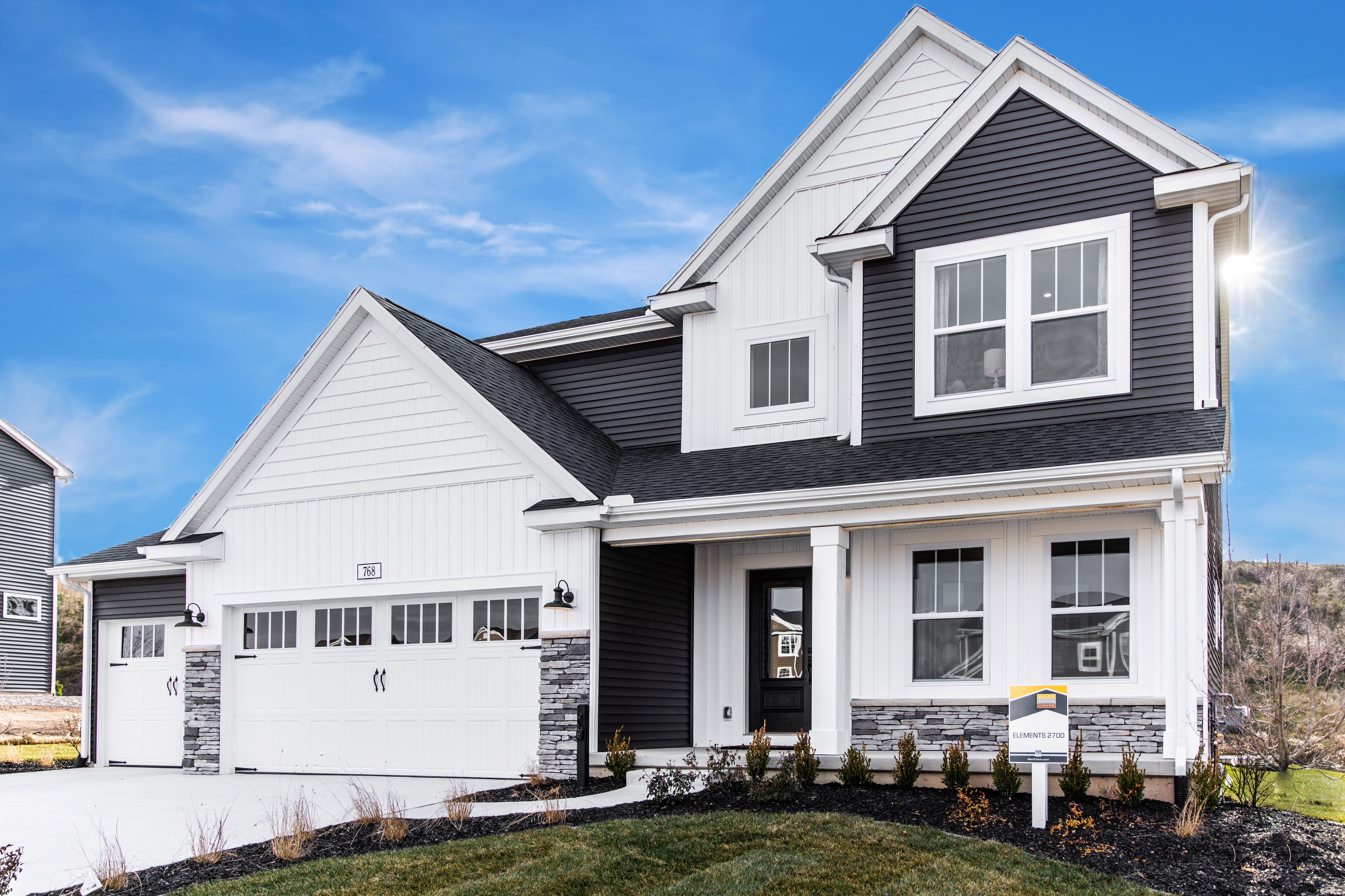 Exterior featured in the Elements 2700 By Allen Edwin Homes in South Bend, IN