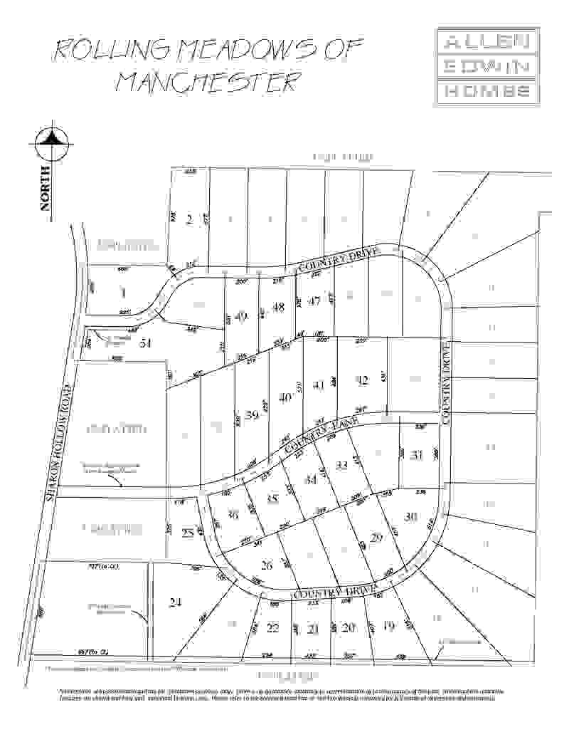 Rolling Meadows of Manchester Lot Map