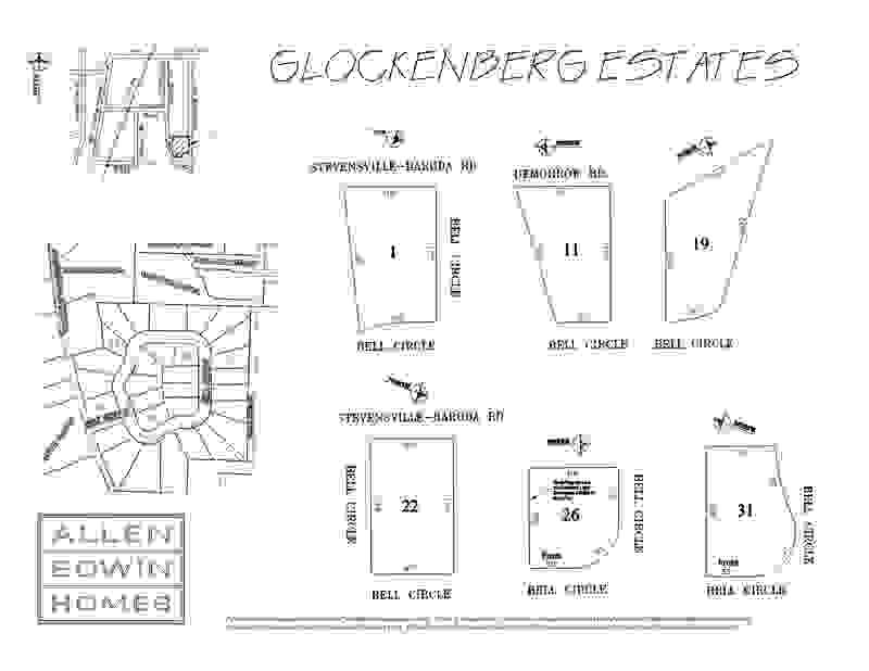 Glockenberg Estates Lot Map