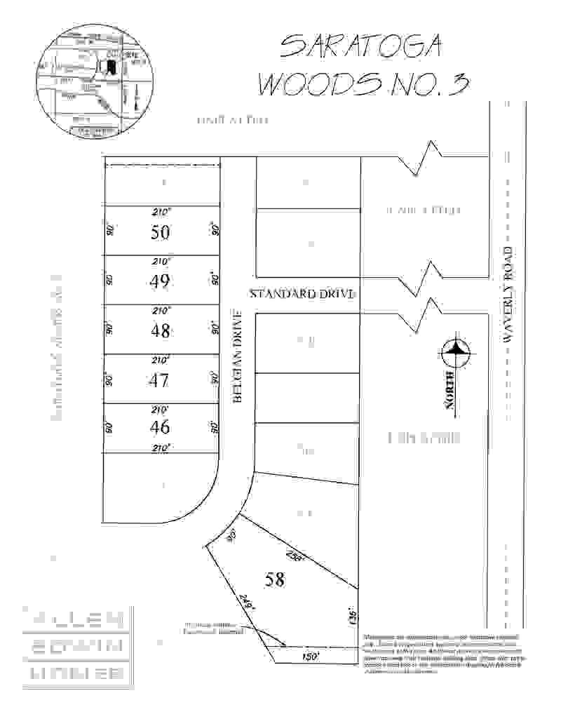 Saratoga Woods Plat Map