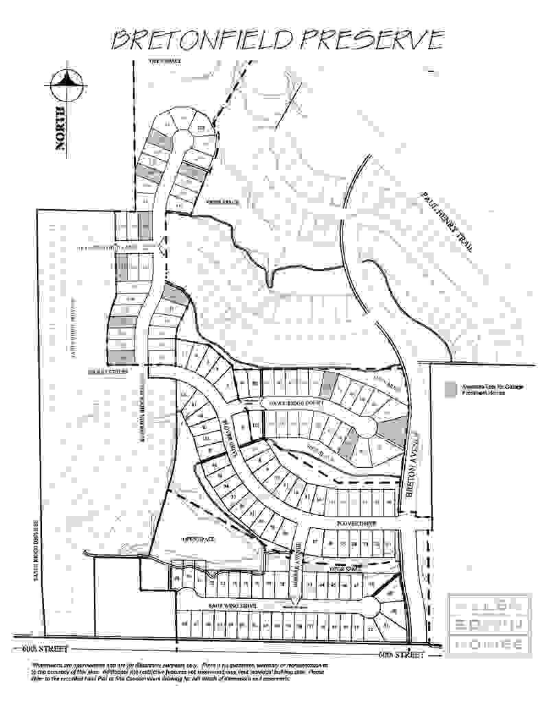 Bretonfield Preserve Plat Map