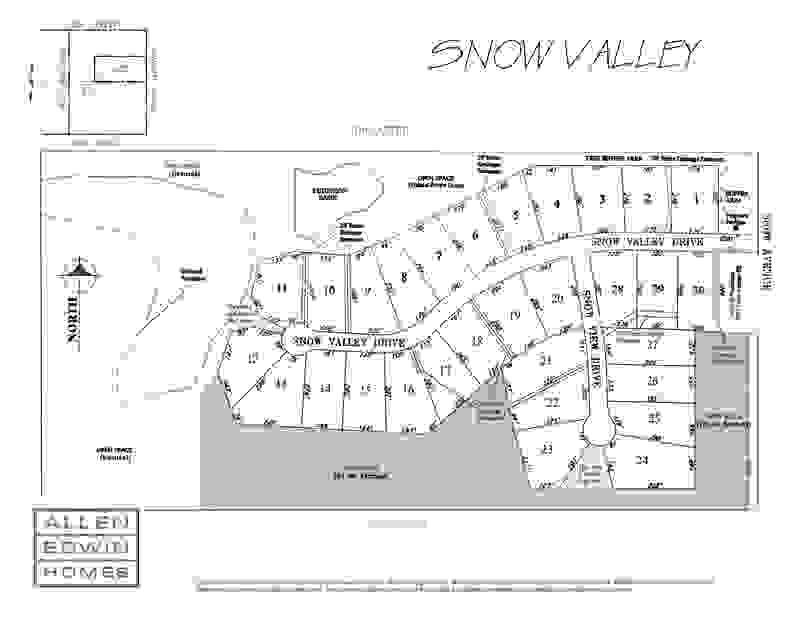 Snow Valley Plat Map