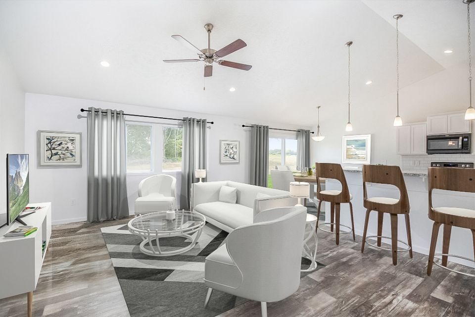 Living Area featured in the Integrity 1250 By Allen Edwin Homes in Grand Rapids, MI