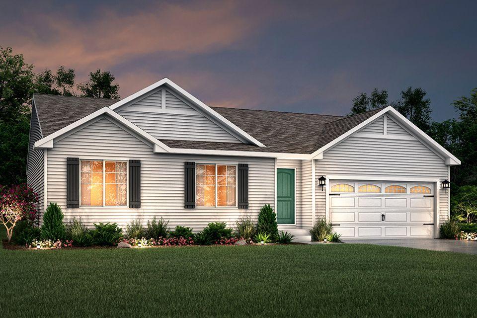 Exterior featured in the Integrity 1605 By Allen Edwin Homes in Kalamazoo-Battle Creek, MI